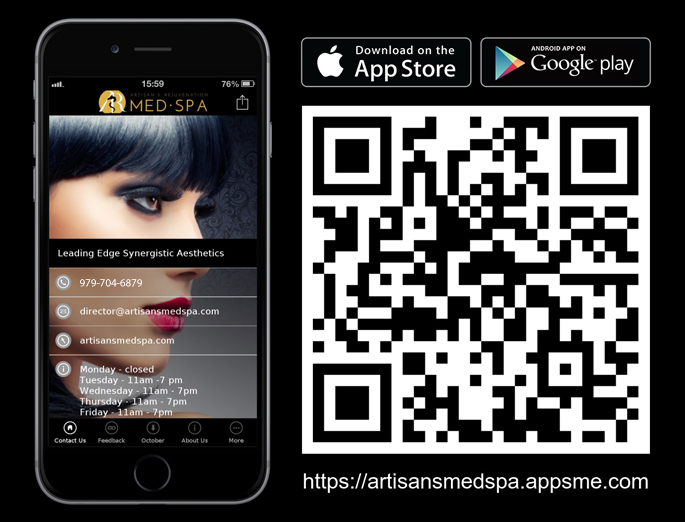 Artisan's Rejuvenation App and QR code
