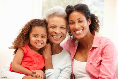 A Grandmother with her daughter and grand daughter