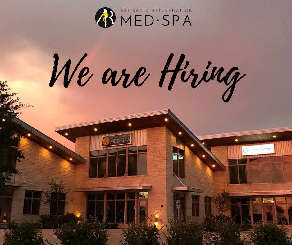 Artisan's Rejuvenation Medspa is hiring!